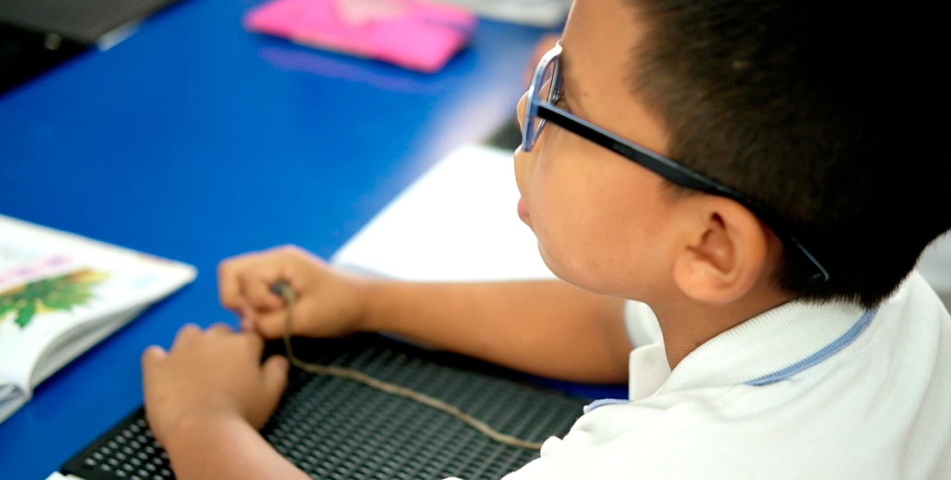 Discapacidad Visual - Unidad de rehabilitación del Instituto para niños ciegos y sordos del Valle del Cauca