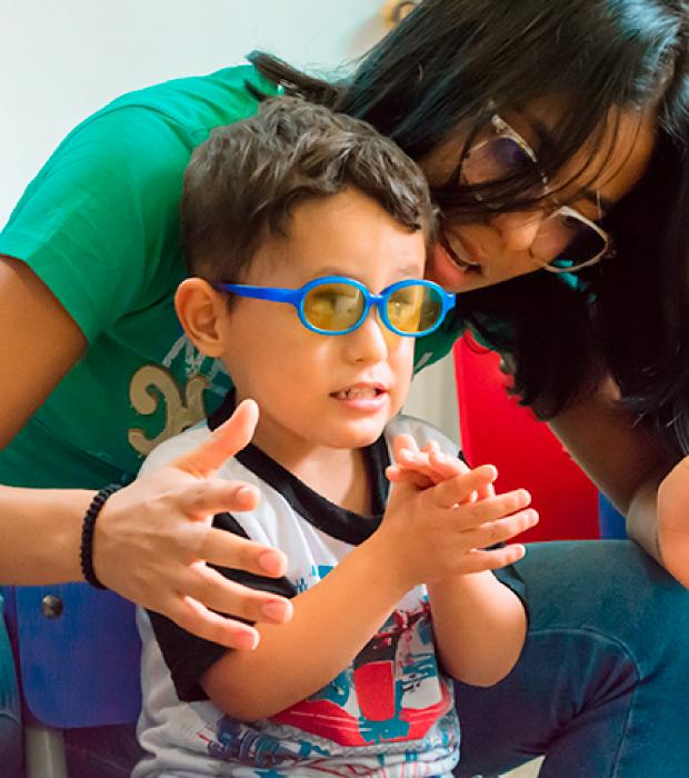 Objetivos del Programa Familia - Unidad de rehabilitación del Instituto para niños ciegos y sordos del Valle del Cauca